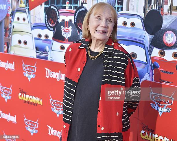 In this handout image provided by Disney Parks actress Katherine Helmond poses during a red carpet event to celebrate the opening of Cars Land at...