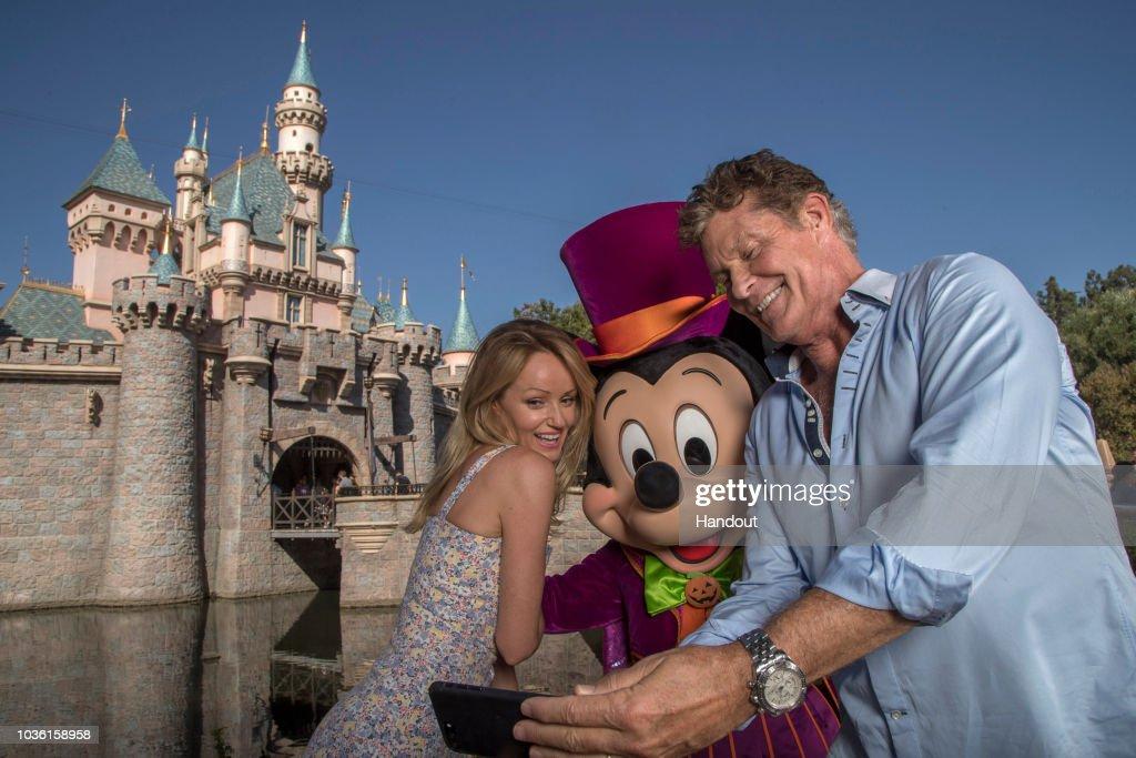 David Hasselhoff And Hayley Roberts Visit Disney California Adventure