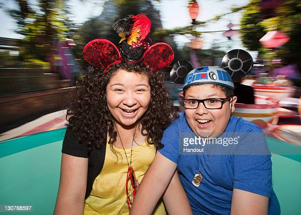 In this handout image provided by Disney Parks 'Modern Family' actor Rico Rodriguez and his sister Raini Rodriguez from the upcoming Disney Channel...