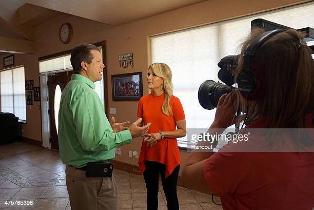 """In this handout image provided by FOX News Channel, Jim Bob Duggar, of the TLC show """"19 Kids and Counting"""", speaks with FOX News Channel's Megyn..."""