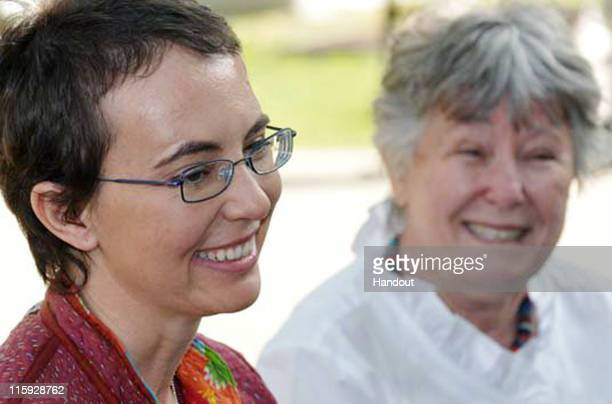 In this handout image provided by Giffords Campaign PK Weis US Rep Gabrielle Giffords sits with her mother Gloria Giffords the day after the launch...