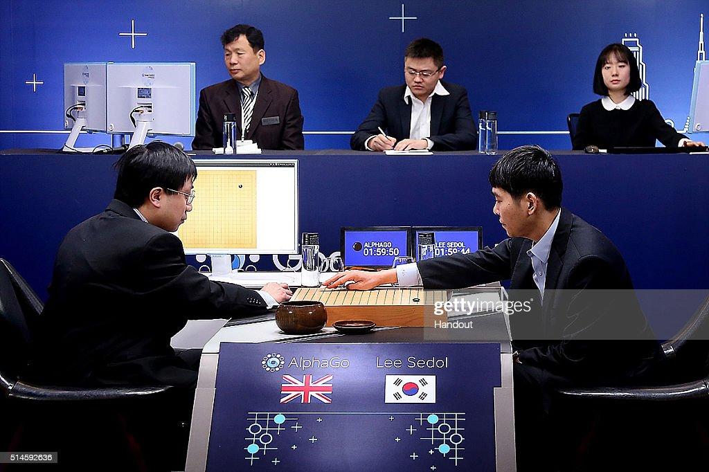 Professional 'Go' Player Lee Se-dol Set To Play Google's AlphaGo : News Photo