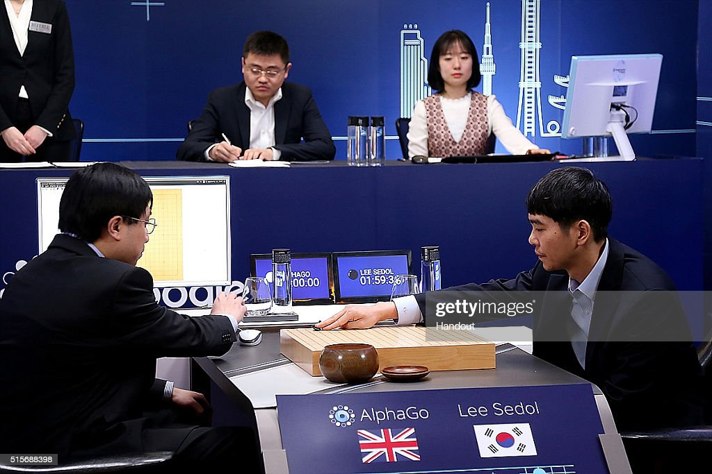 Professional 'Go' Player Lee Se-dol Plays Google's AlphaGo - Last Day : Nachrichtenfoto