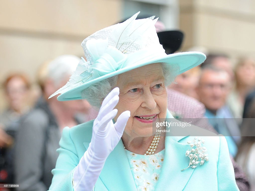 Queen Elizabeth II And Duke Of Edinburgh Visit Northern Ireland : News Photo