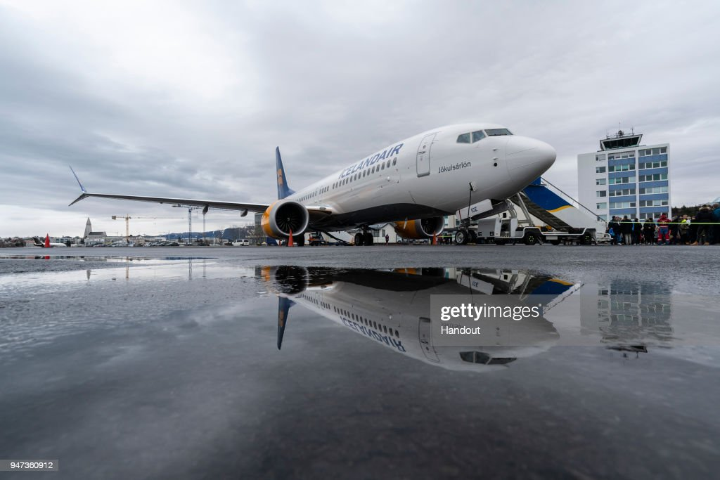 Celebratory Flight 'Iceland By Air' Marks The Arrival Of Icelandair's New Boeing 737 MAX 8 Plane : News Photo