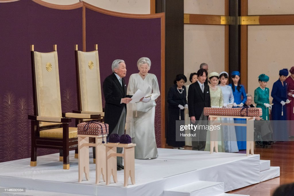 Japan Emperor Akihito's Abdication Ceremony : News Photo