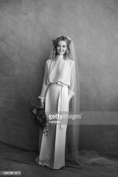 In this handout image provided by Inditex Marta Ortega poses before her civil wedding with Carlos Torretta on November 16 2018 in A Coruna Spain PAID