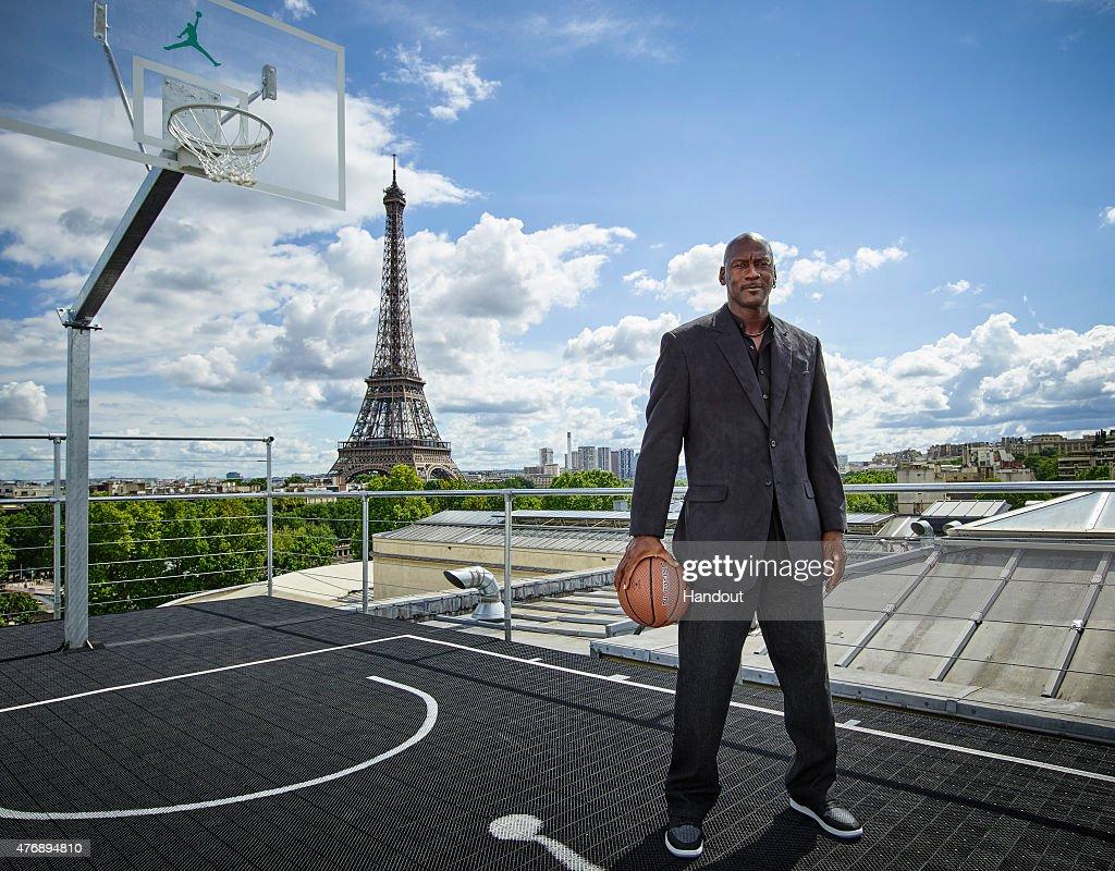 Michael Jordan in Paris to Mark 30 Years of Air Jordan at Palais 23. : News Photo