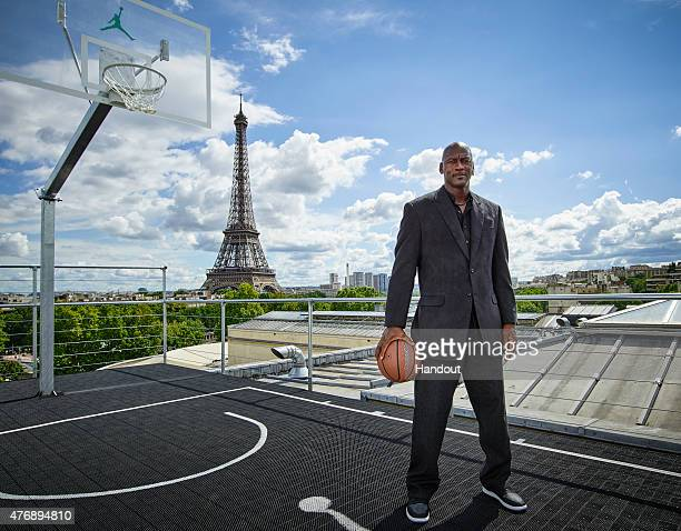 In this handout image provided by Jordan Brand, Michael Jordan paid a visit to Palais 23 this afternoon on Friday June 12, Joined by his frequent...