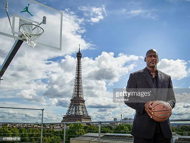 In this handout image provided by Jordan Brand Michael Jordan paid a visit to Palais 23 this afternoon on Friday June 12 Joined by his frequent...