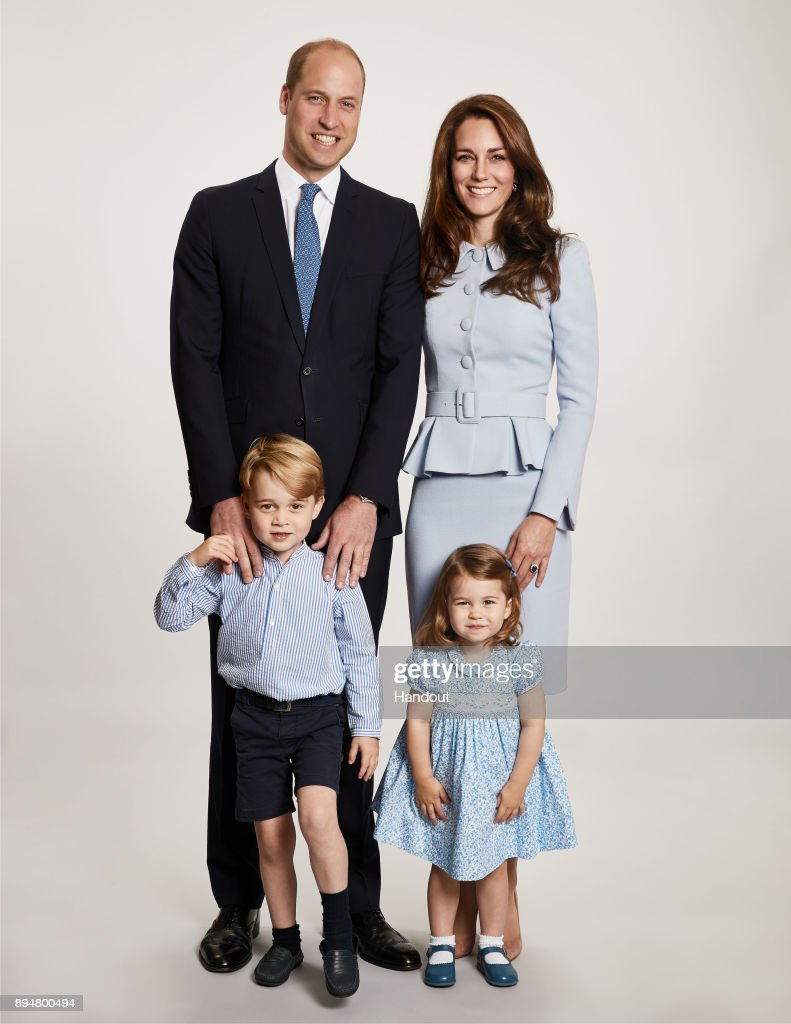 Duke & Duchess of Cambridge Christmas Card : Nieuwsfoto's