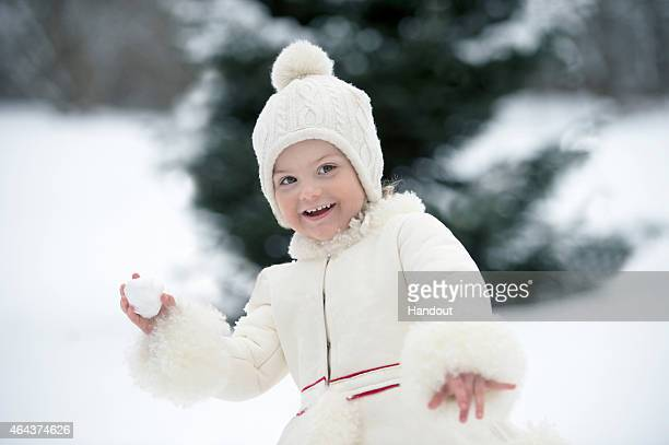 In this handout image provided by Kungahuset.se, Princess Estelle of Sweden celebrates her 3rd birthday at La Haga Palace on February 23, 2015 in...
