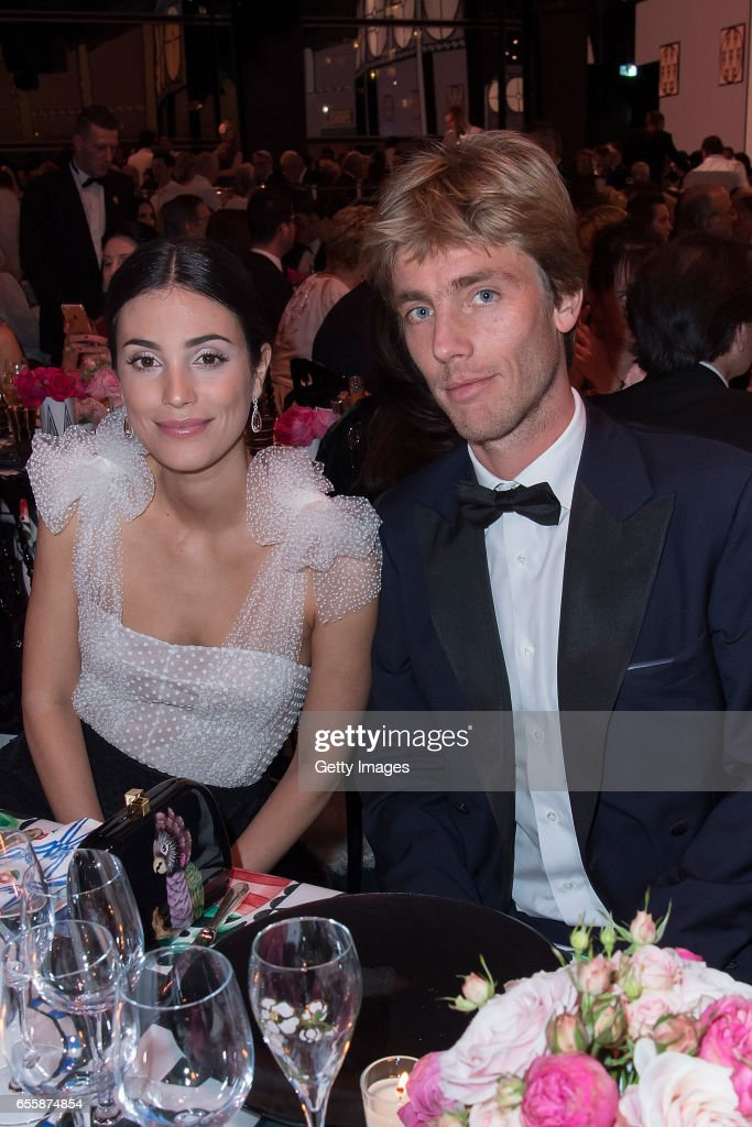 In this handout image provided by Le Palais Princier, Alessandra de Osma and Prince Christian of Hanover attend the Rose Ball 2017 to Benefit the Princess Grace Foundation at Sporting Monte-Carlo on March 18, 2017 in Monte-Carlo, Monaco.