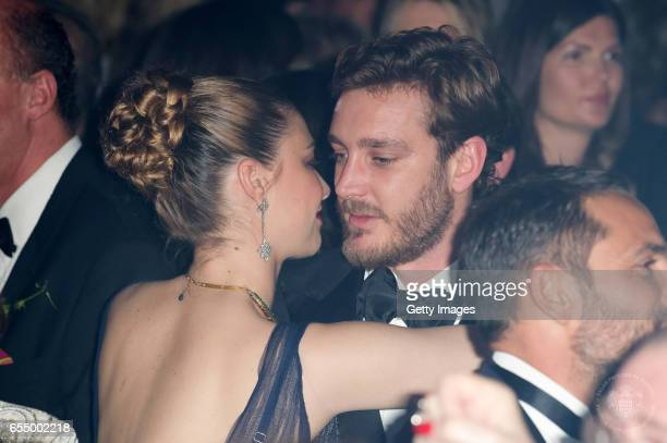 In this handout image provided by Le Palais Princier Beatrice Borromeo and Pierre Casiraghi dance during Rose Ball 2017 To Benefit The Princess Grace...