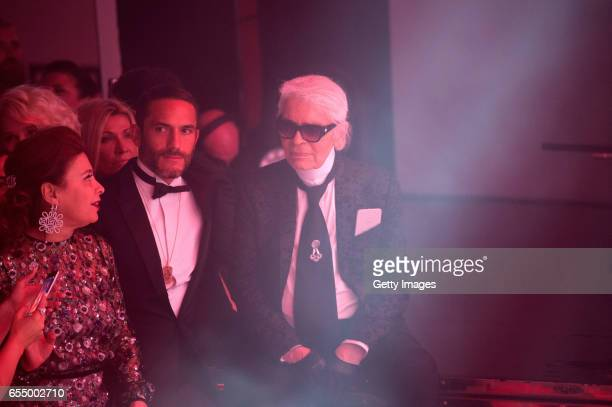 In this handout image provided by Le Palais Princier Karl Lagerfeld attends the Rose Ball 2017 To Benefit The Princess Grace Foundation at Sporting...