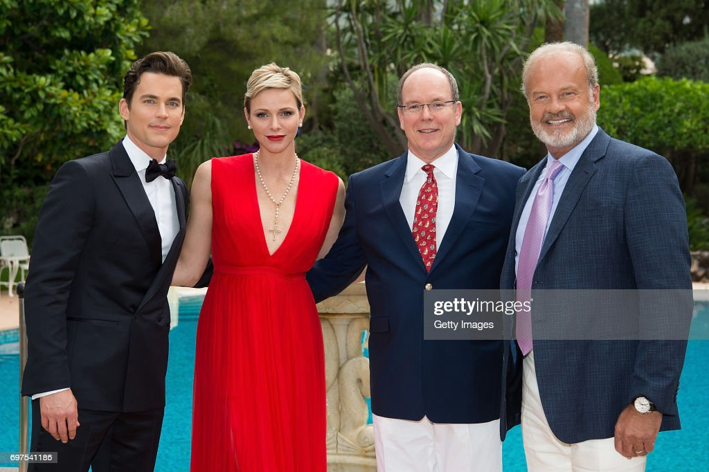 In this handout image provided by Le Palais Princier, Matthew Bomer,Princess Charlene of Monaco,Prince Albert II of Monaco and Kelsey Grammer attend the 'The Bold and The Beautiful' 30th Years anniversary during the 57th Monte Carlo TV Festival : Day 3 on June 18, 2017 in Monte-Carlo, Monaco.