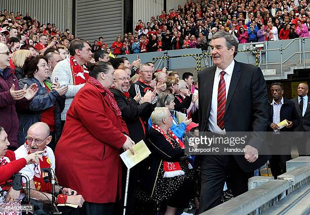 In this handout image provided by Liverpool FC former player Ron Yeats of Liverpool during the 25th Hillsborough Anniversary Memorial Service at...