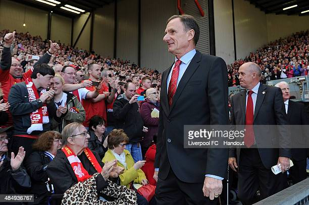 In this handout image provided by Liverpool FC former players Phil Thompson and Phil Neal of Liverpool during the 25th Hillsborough Anniversary...