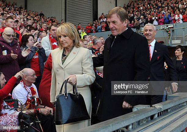 In this handout image provided by Liverpool FC Kenny Dalglish and wife Marina Dalglish attend the memorial service marking the 25th anniversary of...