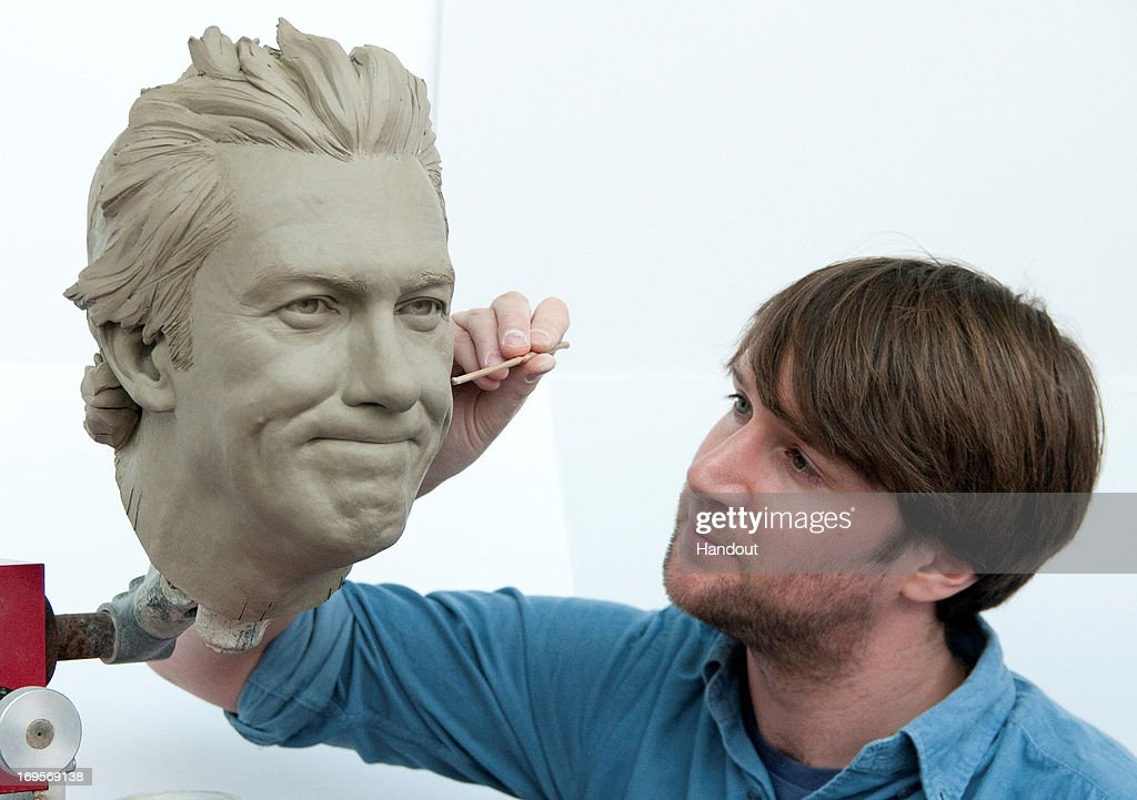 In this handout image provided by Madame Tussauds, sculptor Dave Gardiner works on the clay head of former Australian cricketer Glenn McGrath. Glenn McGrath has been immortalised in wax after the public were asked to vote for their favourite Australian sporting hero. The final figure will be launched later this year.