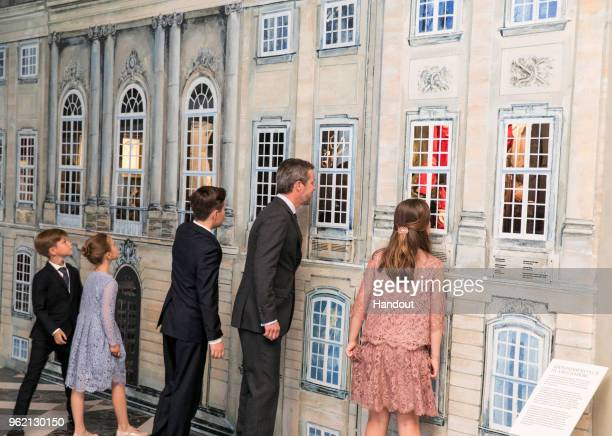 In this handout image provided by MEW and The National History Museum Crown Prince Frederik of Denmark with children Prince Christian Princess...