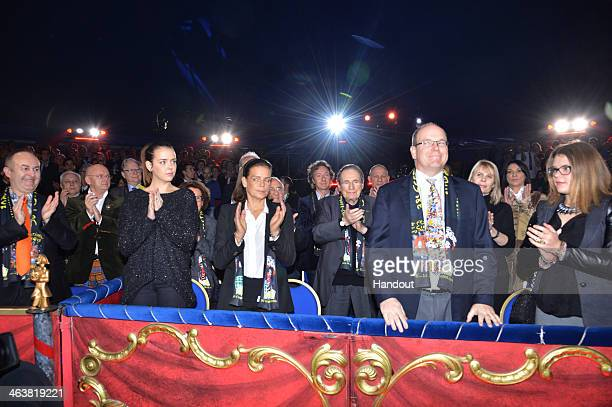 In this handout image provided by Monaco Centre de Presse Pauline Ducruet Princess Stephanie of Monaco Prince Albert II of Monaco and Camille...