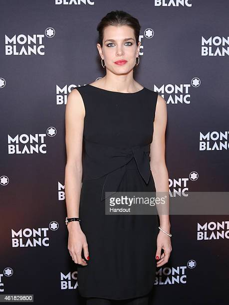 In this handout image provided by Montblanc Charlotte Casiraghi poses during a dinner at the President Wilson Hotel as Montblanc announced Charlotte...