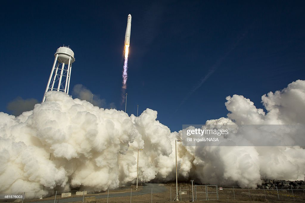 Antares Rocket Prepares For Launch : News Photo