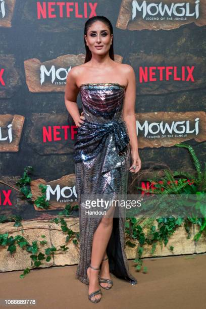 In this handout image provided by NETFLIX Kareena Kapoor attends the Mowgli World Premiere on November 25 2018 in Mumbai India