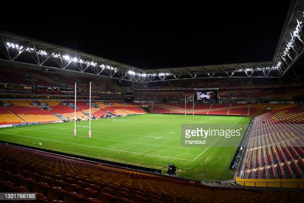 In this handout image provided by NRL Photos a general view is seen of an empty Suncorp Stadium before the round 20 NRL match between the St George...