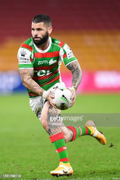 In this handout image provided by NRL Photos Adam Reynolds of the Rabbitohs in action during the round 20 NRL match between the St George Illawarra...
