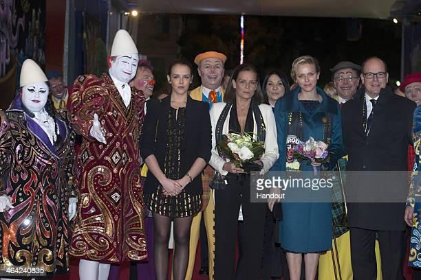 In this handout image provided by Palais Princier Pauline Ducruet Princess Stephanie of Monaco Princess Charlene of Monaco and Prince Albert II of...
