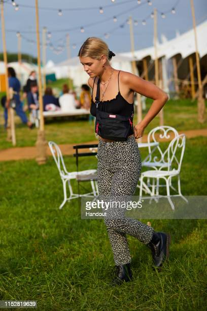 In this handout image provided by PMK BNC celebrity sighting of Pixie Geldof at Glastonbury Festival 2019 on June 29 2019 in Glastonbury England