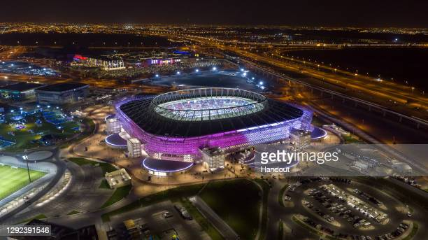 In this handout image provided by Qatar 2022/Supreme Committee, Qatar inaugurates fourth FIFA World Cup 2022 venue, Ahmad Bin Ali Stadium on December...
