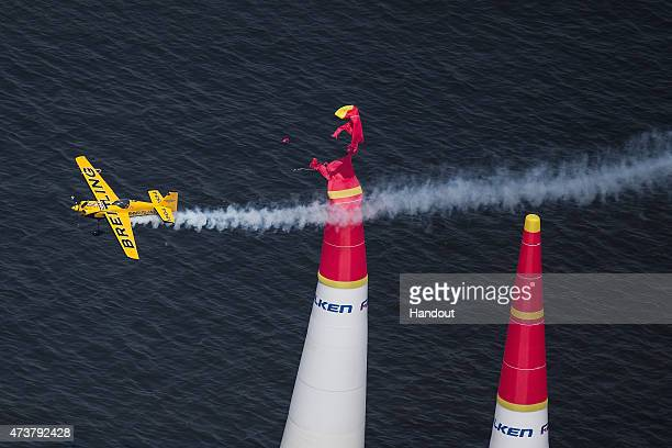 In this handout image provided by Red Bull Francois Le Vot of France performs during the second stage of the Red Bull Air Race World Championship on...