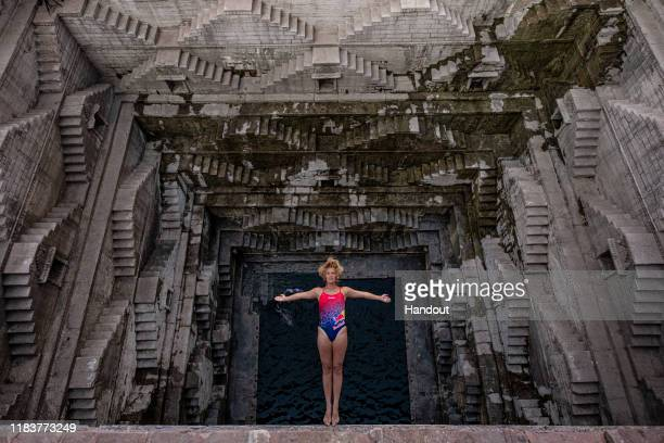 In this handout image provided by Red Bull, Red Bull Cliff Diving World Series reigning champion, Rhiannan Iffland of Australia, dives at the Toorji...