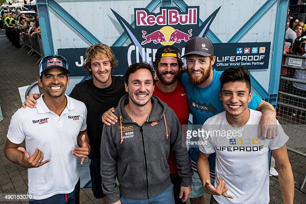 In this handout image provided by Red Bull The top six divers for the year who prequalify for 2016 Orlando Duque of Colombia Gary Hunt and Blake...