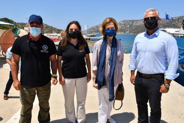 GRC: Queen Sofia Visits A Marine Aninmal Rehabilitation Center In Greece