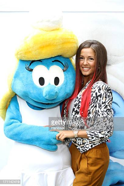 In this handout image provided by Sony Pictures Entertainment a general view of Global Smurfs Day 2013 celebration at Gorky Park on June 22 2013 in...