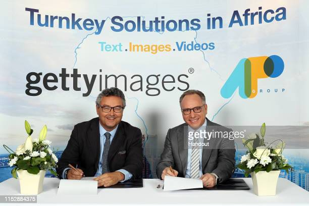 In this handout image provided by the APO Group and released on June 3 Lee Martin Senior Vice President Global Strategic Development at Getty Images...