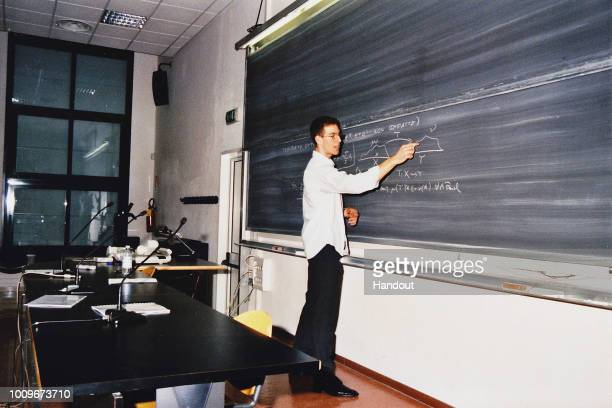 In this handout image provided by the archive of Scuola Normale di Pisa shows student Alessio Figalli in 2006 during his graduation at the Scuola...