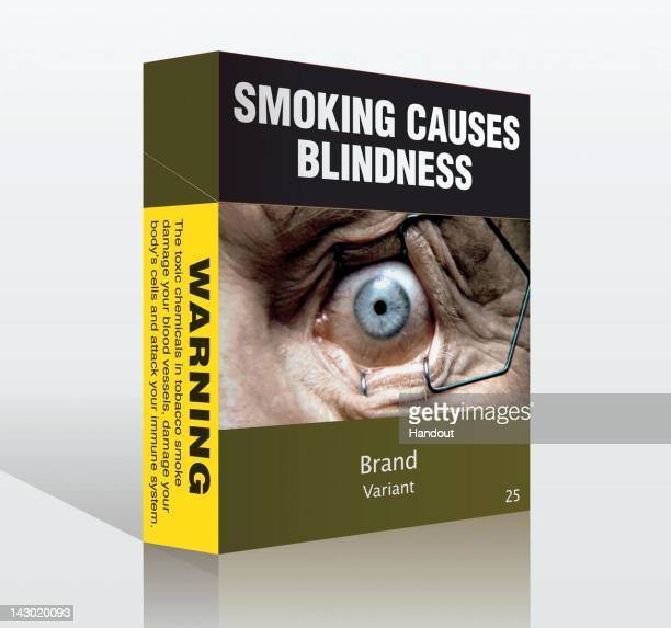 In this handout image provided by the Australian Government a proposed 'plainpackaged' cigarette packet is seen British American Tobacco Philip...