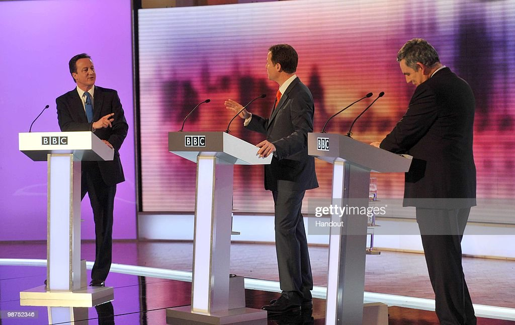 The BBC Host The Third And Final Televised Leaders' Debate : News Photo
