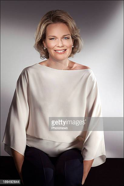 In this handout image provided by the Belgian Royal Palace Princess Mathilde of Belgium poses on January 8 2013 ahead of her 40th birthday on January...