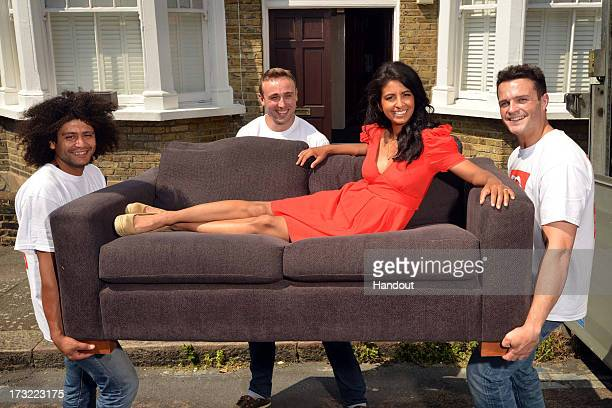 In this handout image provided by the British Heart Fondation, Konnie Huq helps launch the DFS pledge to raise £2 million GBP for the British Heart...