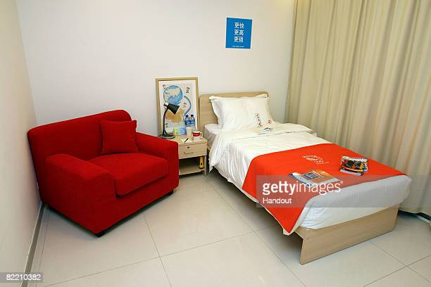In this handout image provided by the British Olympic Association an interior view is presented of the athletes accomodation for Team Great Britain...
