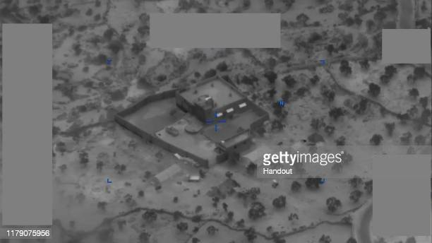 In this handout image provided by the Department of Defense ISIS leader Abu Bakr alBaghdadi's compound is seen prior to a US Special Operations raid...