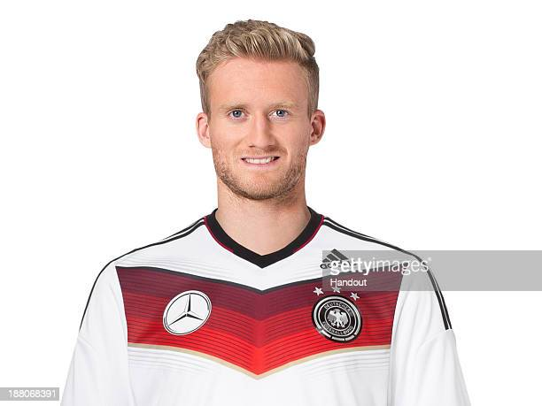 In this handout image provided by the DFB, Andre Schuerrle poses during the German National Team presentation on November 15, 2013 in Germany.