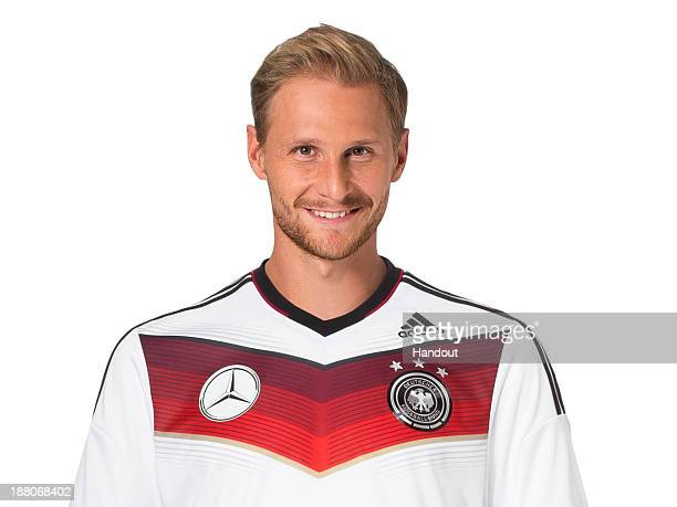 In this handout image provided by the DFB Benedikt Hoewedes poses during the German National Team presentation on November 15 2013 in Germany