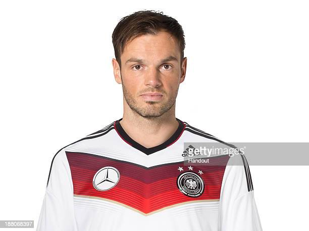 In this handout image provided by the DFB Heiko Westermann poses during the German National Team presentation on November 15 2013 in Germany